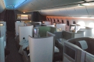 ... and the rear section of Club World (aka business), which is where I ended up.