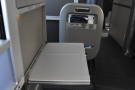 This is the table at half-width, useful for squeezing past if you're in a window seat.