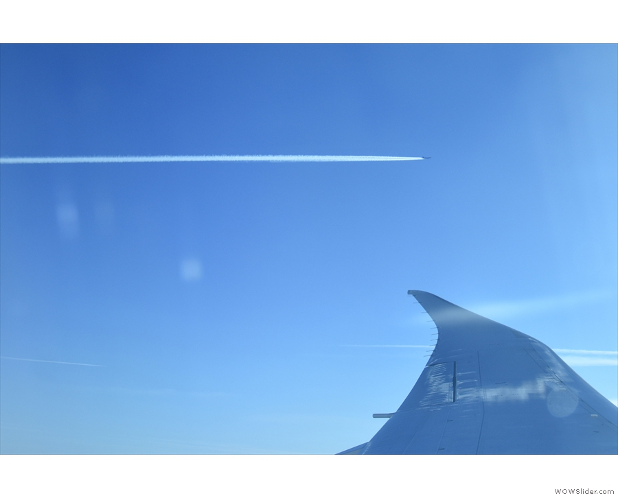 There was at least one other plane heading in the same direction as us.