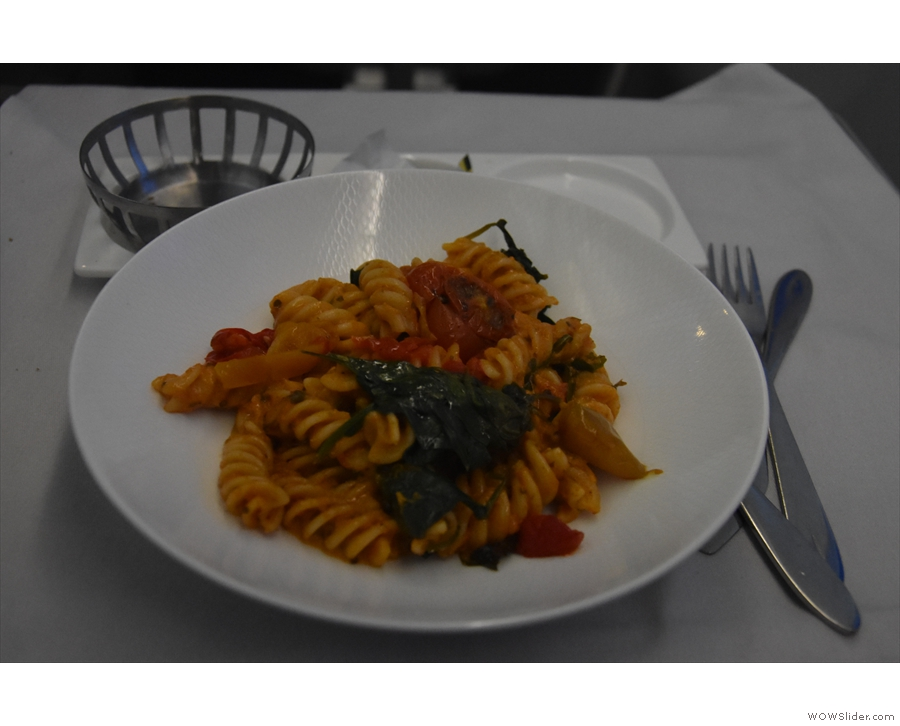 ... and a pasta main course.