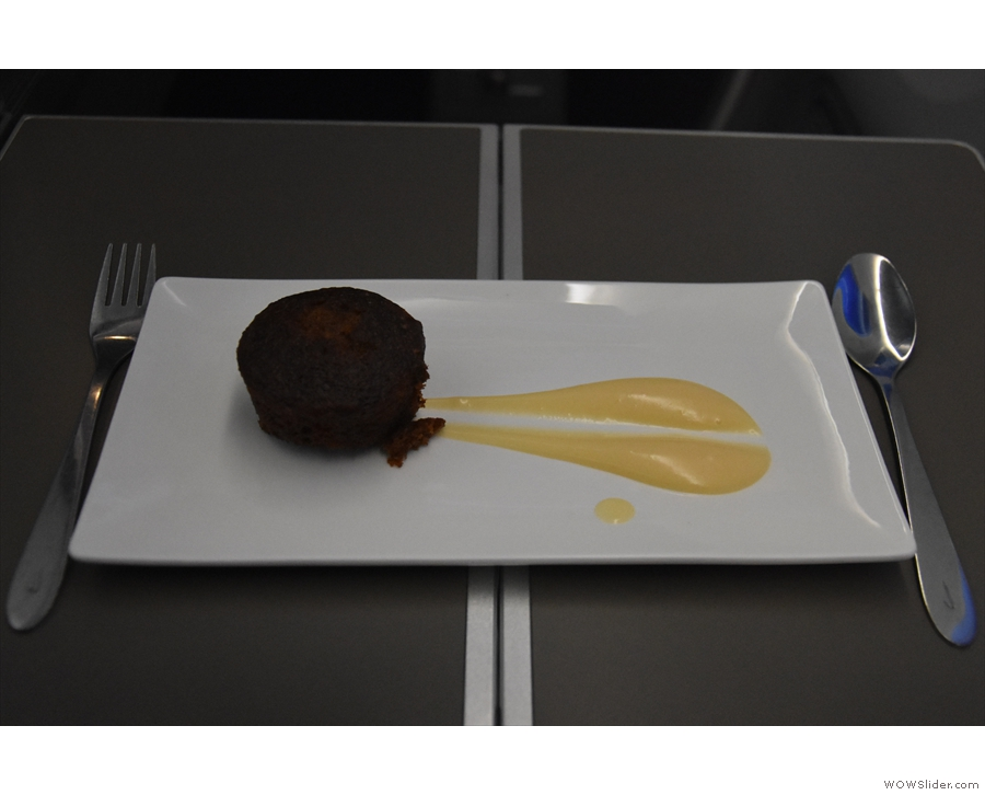 By the time my sticky toffee and date pudding had arrived...