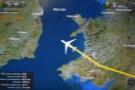 Soon we were flying across the Irish Sea...