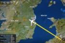 ... crossing the Irish coast just south of Dublin.