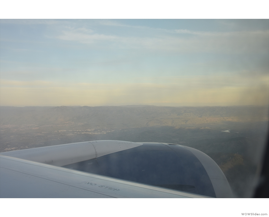 ... and then followed a valley, flying southeast.