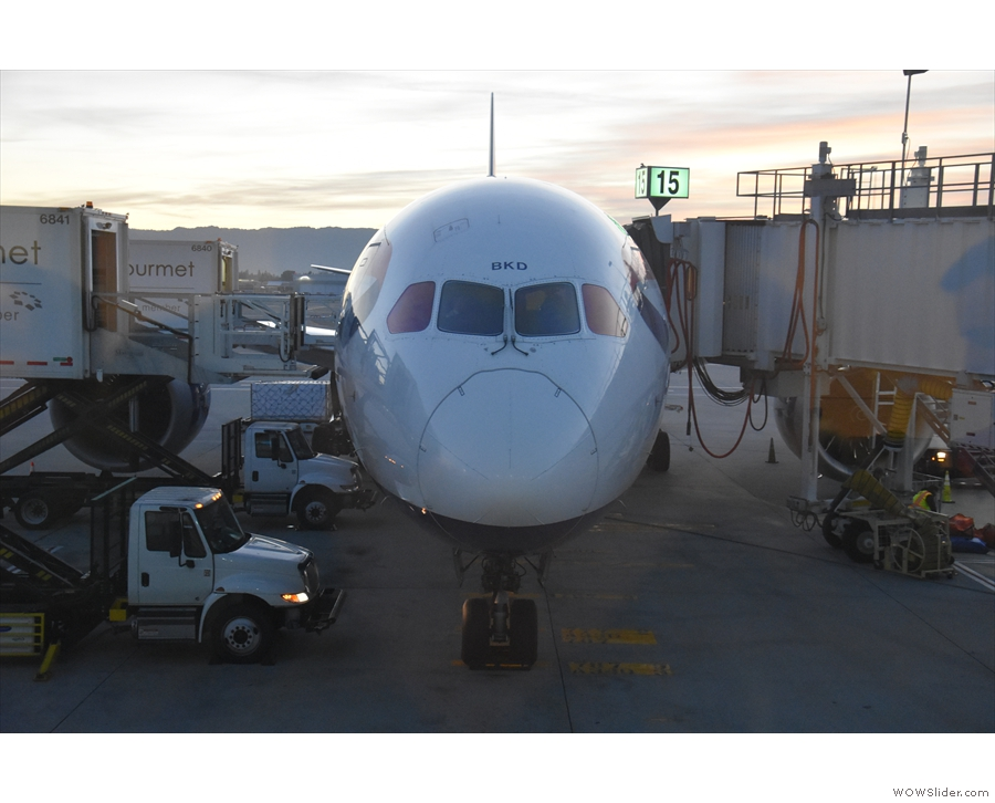 I'll leave you with my plane on the stand at San Jose airport.