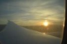 We turned to make our final approach to San Jose as the sun set to the west.