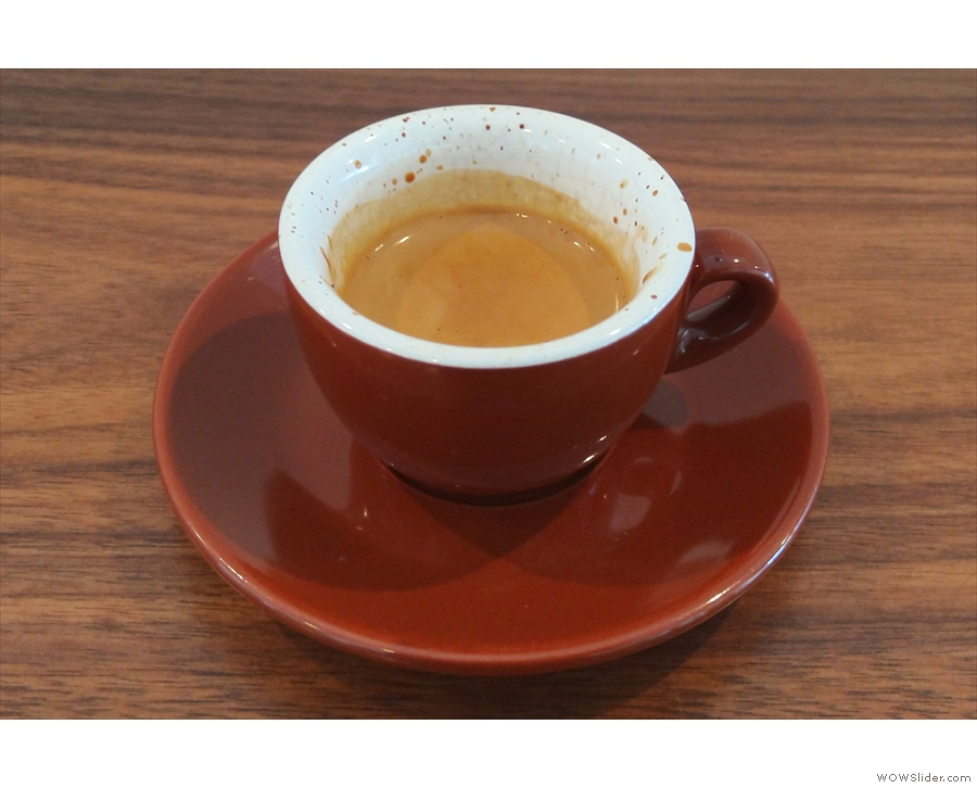 ... although I had a classic espresso, served in a classic cup, which is where I'll leave you.