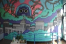 There's also an awesome mural in here as well.