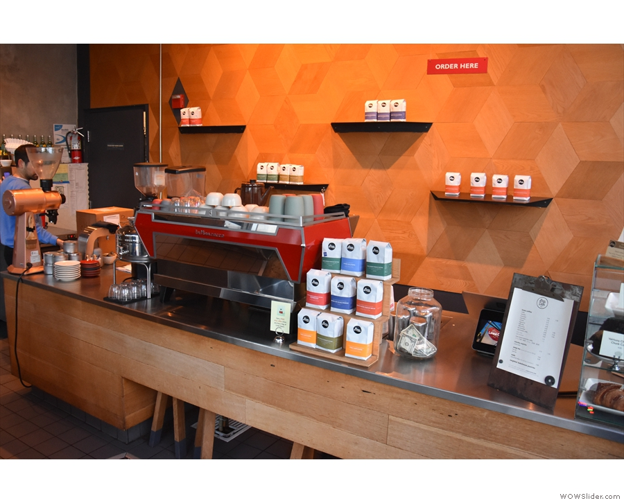 Down to business. This is the view of the counter as you approach from the door.