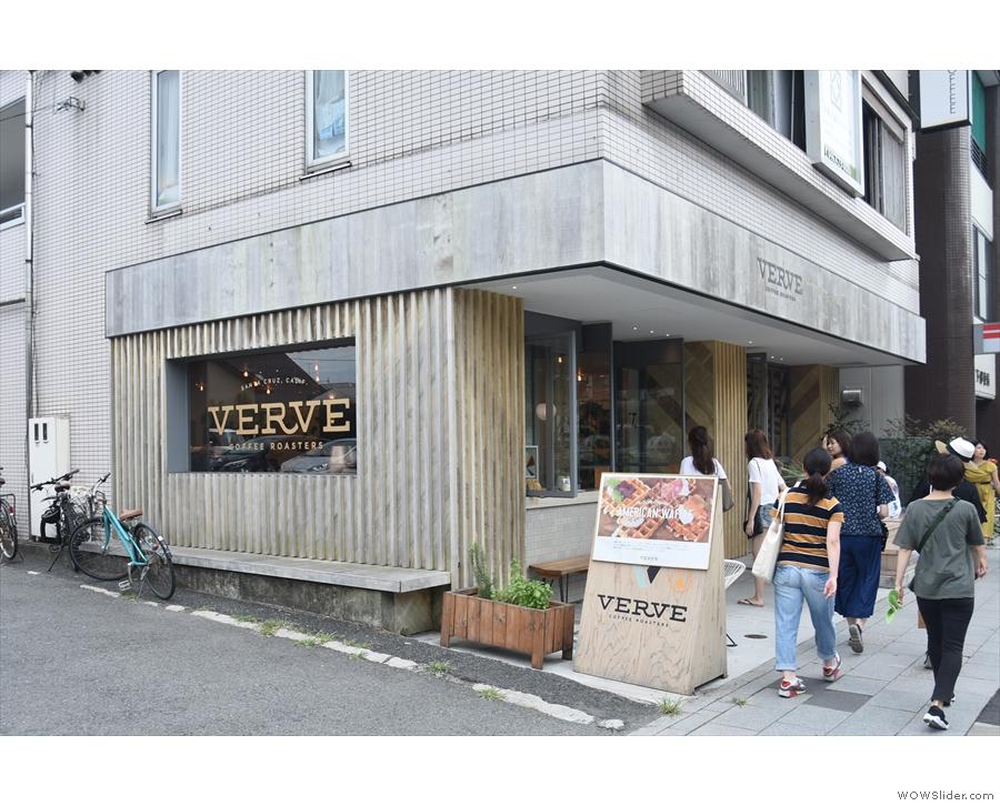 Verve extends around the corner...