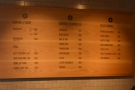 ... behind which is a more extensive menu on the wall.