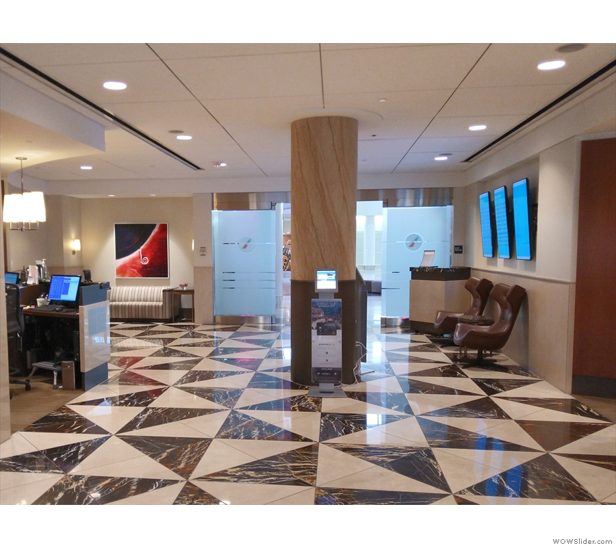 The entrance area to the Admiral's Club, American Airlines' lounge.