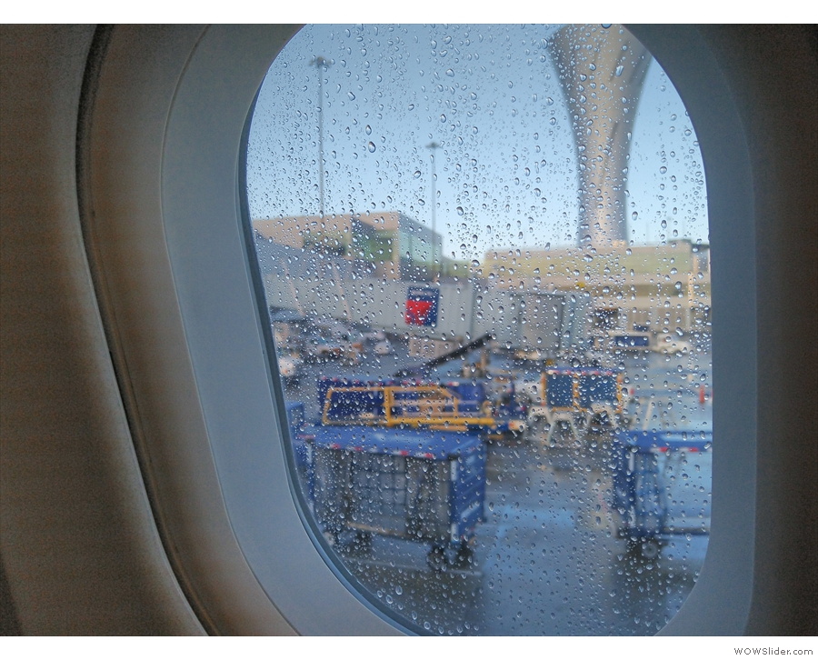 I also had a window, although it had been raining overnight, hence the raindrops.