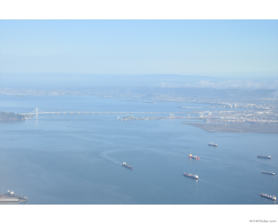 Just two minutes into the flight and already the Bay Bridge was coming into view.