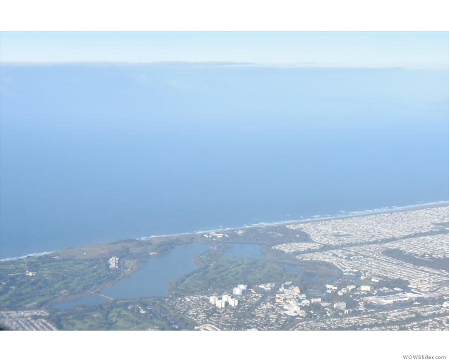 ... and then headed south parallel to the coast, going east of Lake Merced.