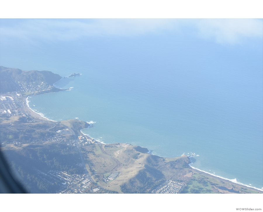 ... while this is the stretch of coast from Mori Point, along Rockaway Beach to Pedro Point.