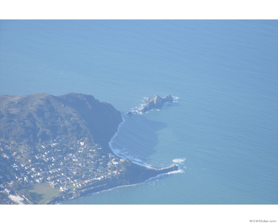 Pedro Point and San Pedro Rock, jutting out into the Pacific Ocean.
