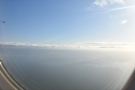 The view out over San Francisco Bay. Another aircraft had taken off on the runway to...