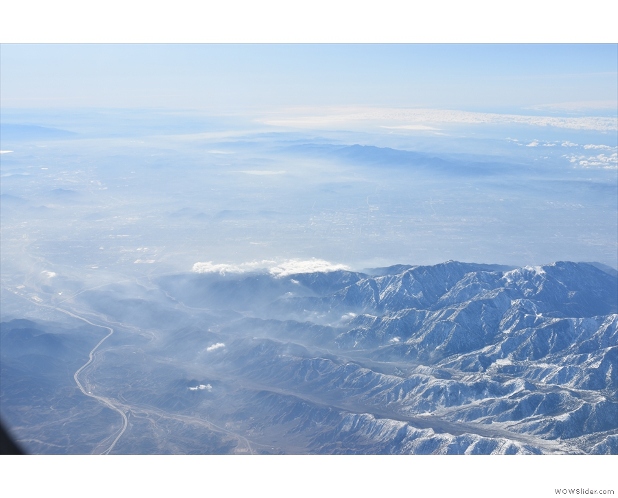 At this point, 45 minutes into the flight, just over half way to Phoenix, the mountains...