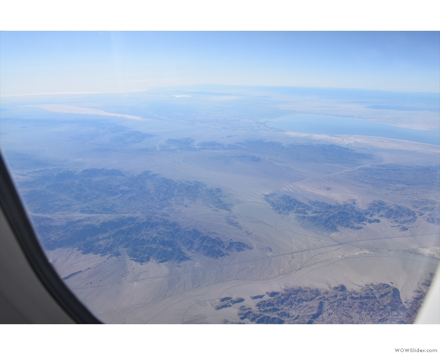 If I'm right, it puts us south of Joshua Tree National Park and the landscape is taking on...