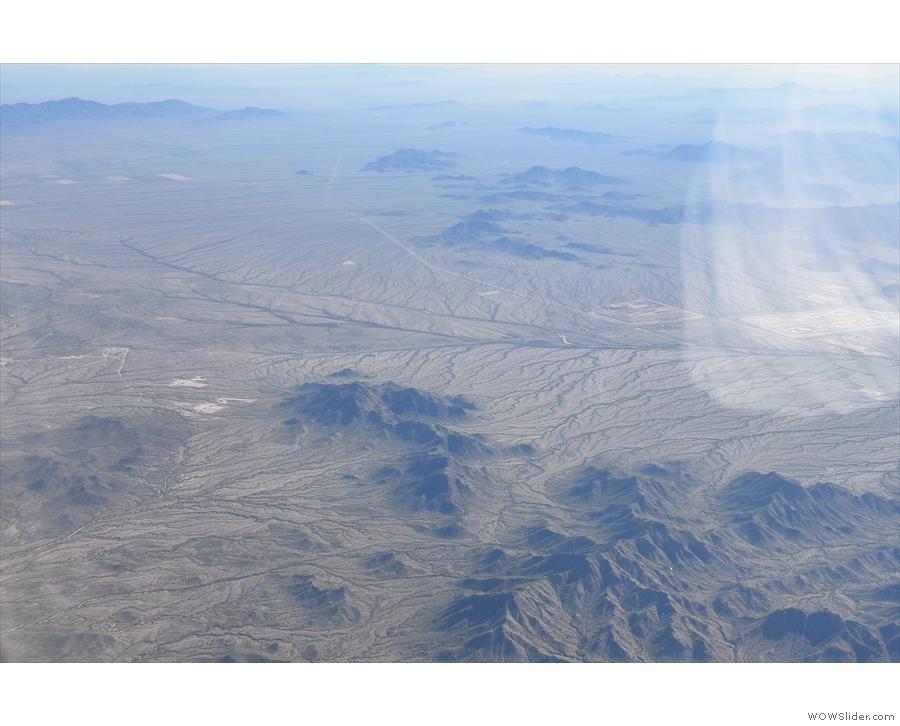 With ten minutes to go, we were rapidly descending towards the hills west of Phoenix.