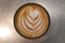 Check out the latte art.