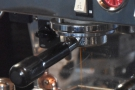 The espresso machine, at the back of the counter, is ideal for watching espresso extract...