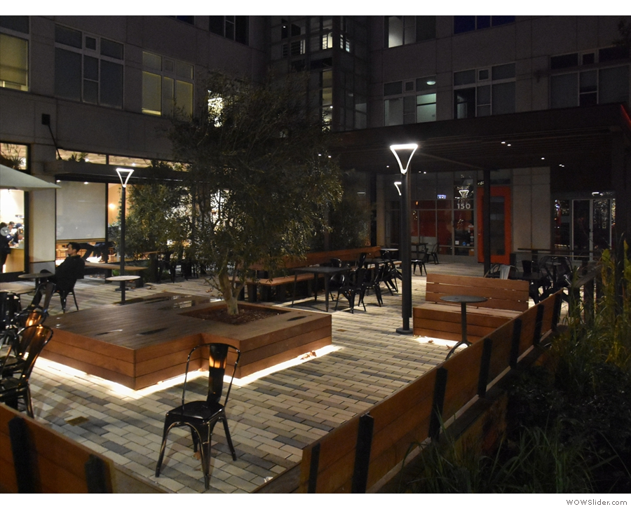 ... seating area which stands on the corner of High Street.