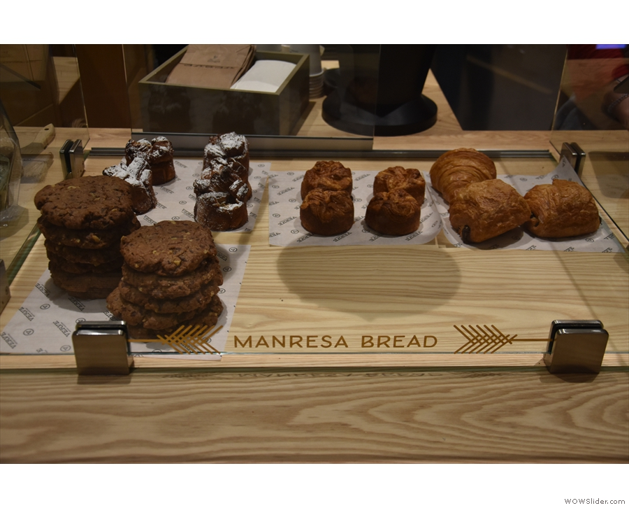 Food is only served until 2pm, but there are cakes from Manresa Bread available all day.