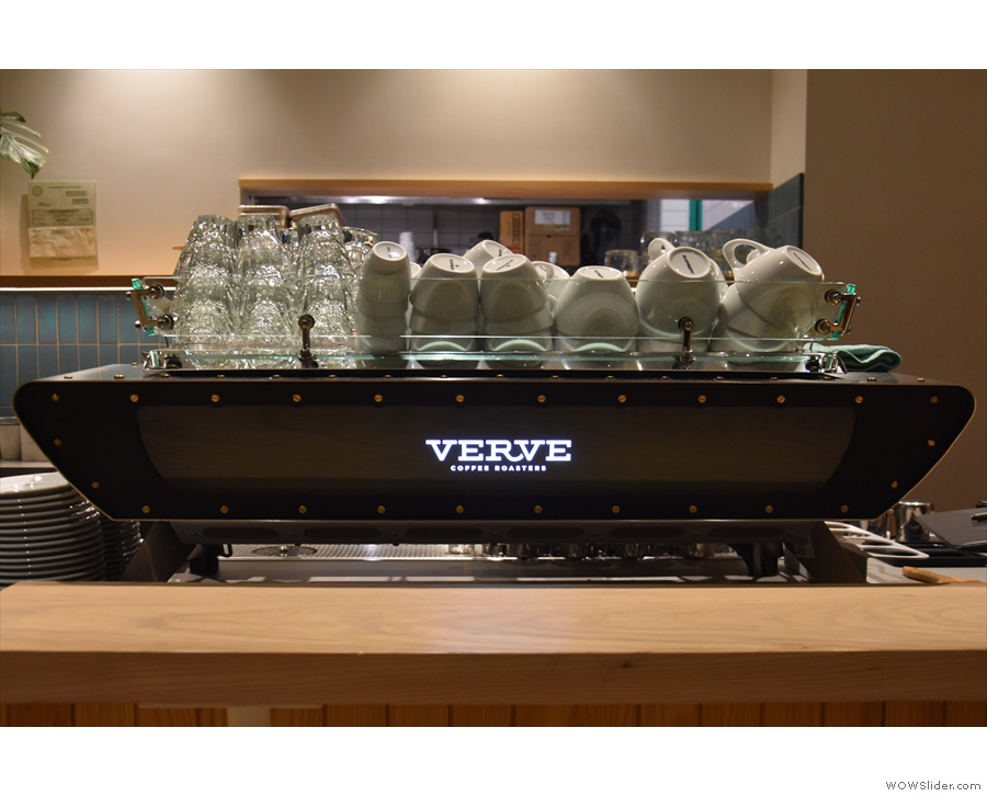 ... Kees van der Westen Spirit espresso machines take pride of place.