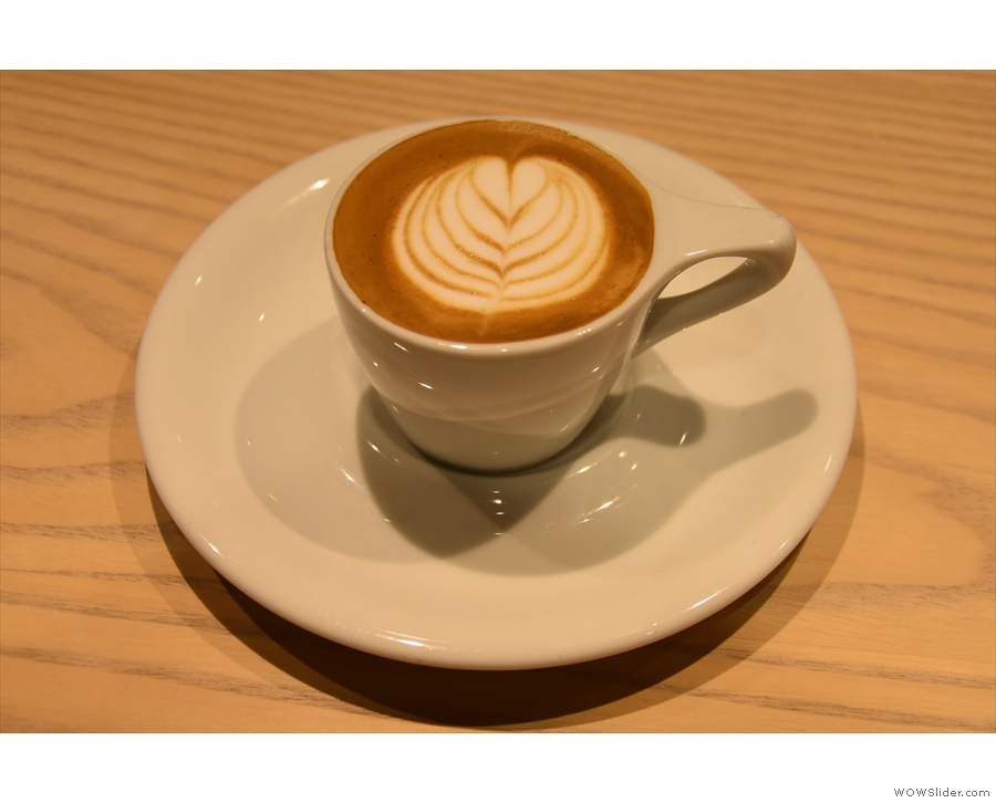 ... while I'll leave you with this lovely latte art, which, remember is in an espresso cup!