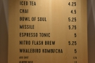... tea in the middle, along with other drinks such as kombucha...