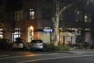 In the heart of downtown Palo Alto, on the corner of University Avenue and High Street...