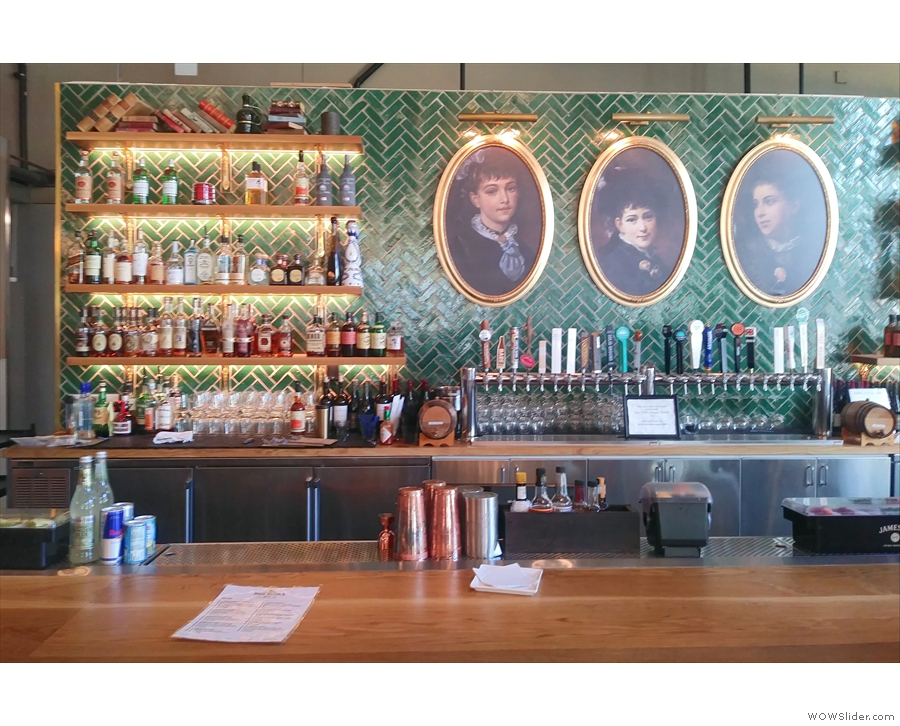 As well as being beautifully-decorated, the bar is also well stocked.