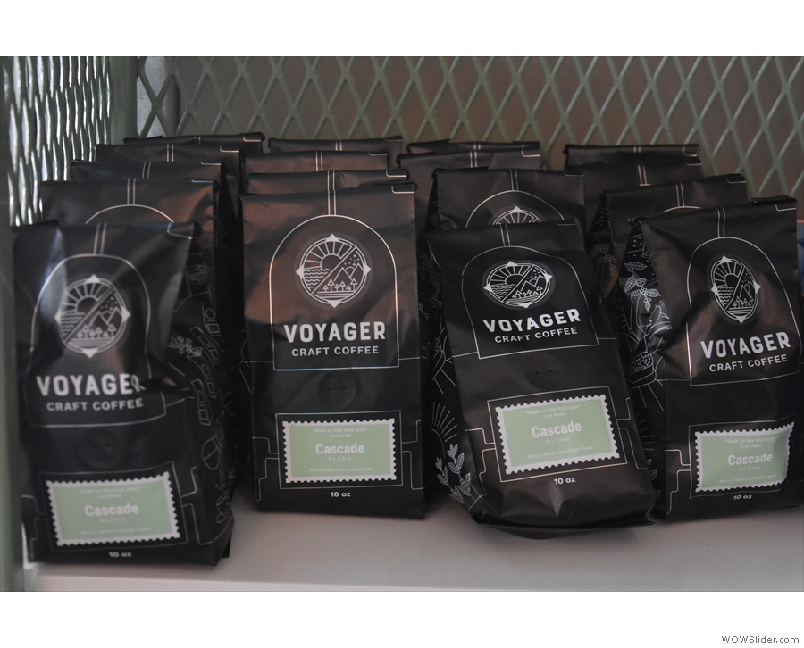 There are the usual retail bags of coffee, starting with the Cascade blend...