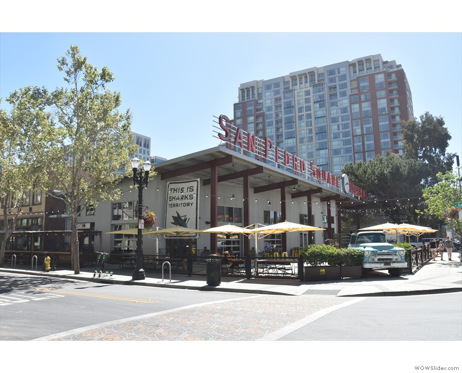 The San Pedro Square Market, in downtown San Jose, seen here in April 2019...