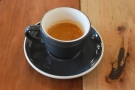 ... a glass of sparkling water. It was a well-balanced, smooth espresso...