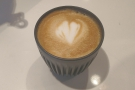 Terminal 3 has speciality coffee after all! I started with a cortado in my HuskeeCup...