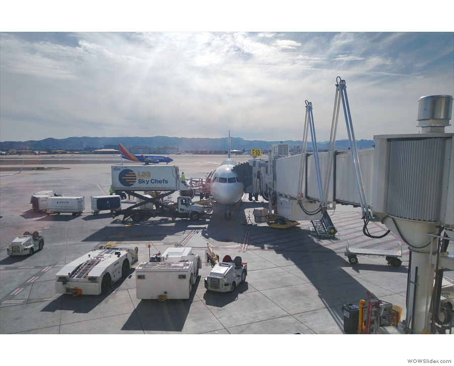 ... which was waiting for me at the gate, being loaded before takeoff.