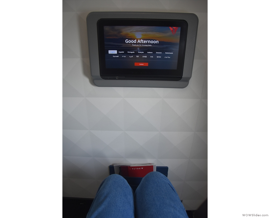 I had my usual bulkhead seat, which came with a large monitor...
