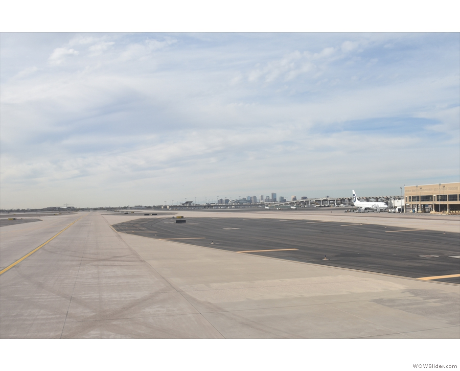 The big, open spaces of the runways and taxiways of Phoenix Sky Harbor.