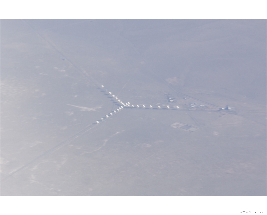 At last! A very recognisable landmark: the Very Large Array of radio telescopes