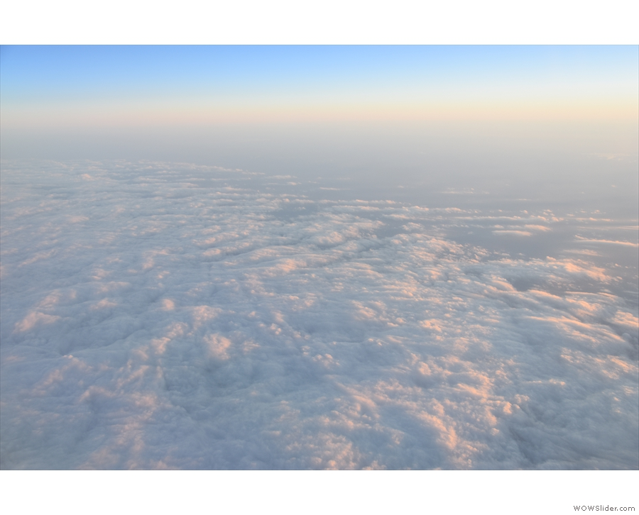 ... we fly over another bank of cloud.