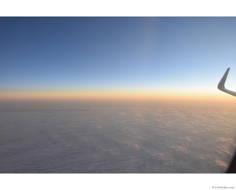 ... of the clouds below us.