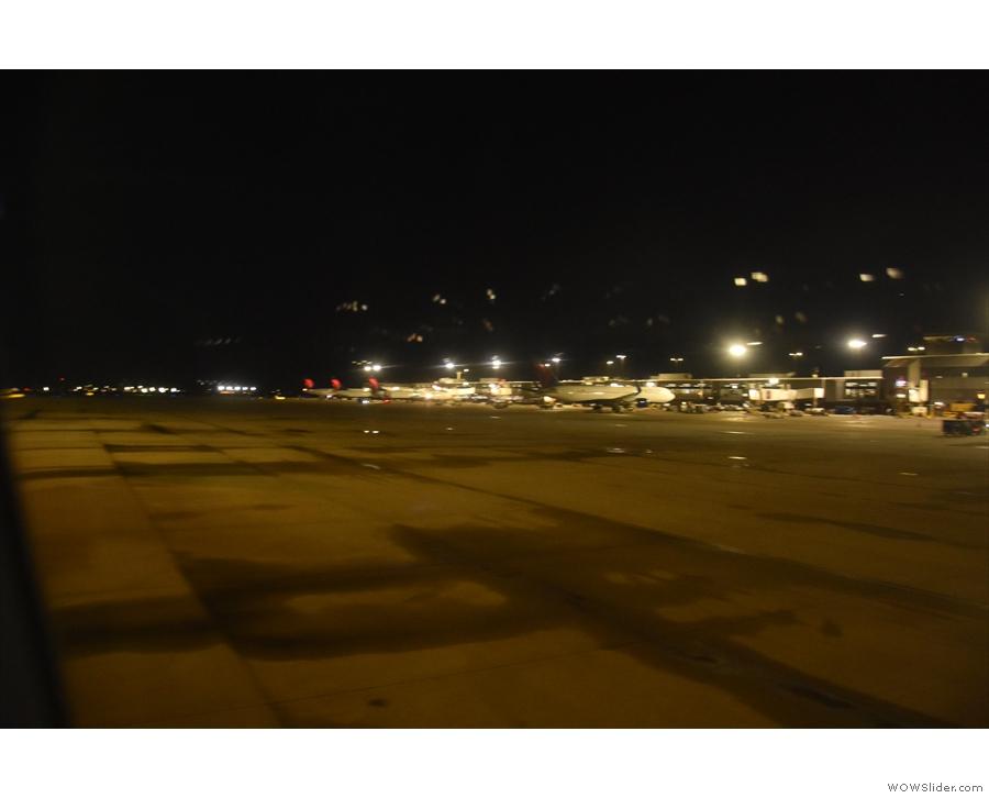 ... past various terminals...