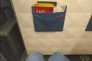Since it was a night flight, I'd gone for the aisle seat. More than enough legroom.