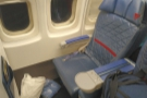 I was flying first class in my usual seat right at the front (although this is my neighbour's).
