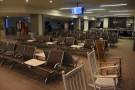 In contrast to Atlanta, Portland Jetport is a lovely little airport. Look, there's rocking chairs!