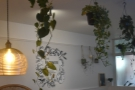 ... plants down the centre of the room...