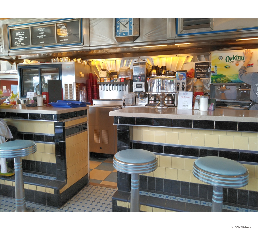 ... a vintage American diner, where we turned down a seat at the counter...